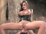 Nika noire spanks and handling his rod