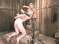 Mistress fucking bitch boy with dildo hardly