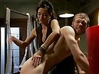 Gia Dimarco milks prostate till slaveboy