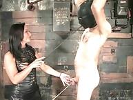 Sandra Romain fucks slave boy up the ass