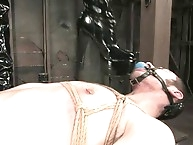Mistress Shy Love punishes bound boy