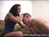 Muscled young guy wipping by  his mistress