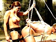 Mistress Francesca does strap-on anal sex