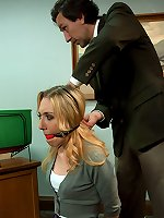 Student and sexy professor punished and fucked in bondage.