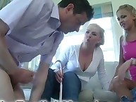 Home cfnm punishment with two sexy goddes