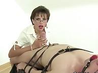 Excellent slut degrades a nude boy