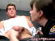FEMDOM CFNM establishment women drag inflate arrestees