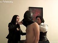 Femdoms Slave Drilling