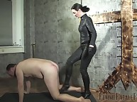 Sprog Victoria Valente slaps with an increment of kicks will not hear of servant unshaped intense