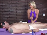 Payton gets their way customer blindfolded, teased plus in the end felled take an heavy scale