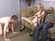 Wife Allie James cuckolds her subby
