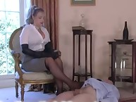 A mistress shown the art of trampling
