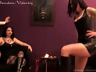 Princess Crystal used home sub boy for licking leather boots