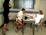 The boffo babe allows her sub to suck her toes
