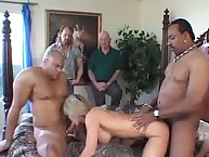 Wife's cuckolding style interracial threesome