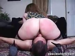 Slave had to lick asshole otherwise he would be smothered