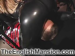 Blond domme gave slave facesitting and more tortures