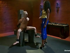 Goddess beat, abused and pumped her sex doll hard