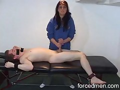 Bound male subby is getting punished by Dominatrix