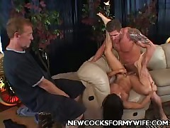 Stiff cock is fucking that MILF like there is no tomorrow