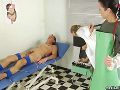 Femdom clinic with perverted doctors, nurses and their experiments