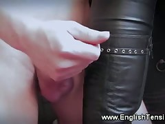 Mistress and her foot doll in worship porn