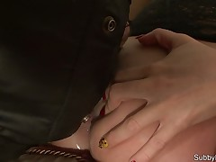 Perverted wife made submissive hubby lick her asshole