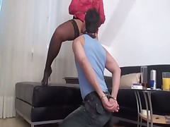 Male subby had to worship pussy of his domme