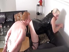 Mistress's cunt was licked well by slave doll