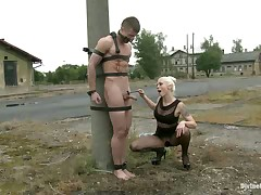 Terrible humiliation for a timid slave dude