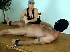 Male sub is lucky to have dick wanked off