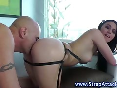 Domina queens strapon making out