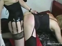 Dominant Helga with her best strapon fucked man's ass