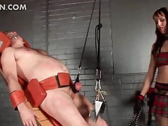 Deviant dominating floosie flagellation on every side their way sexual relations sub together with tormenting his penis