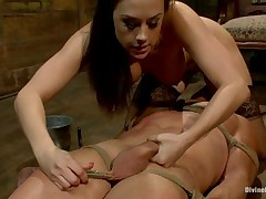 Subby was bound and tortured by sexy Dominatrix