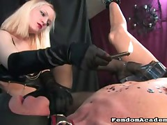 Brutal punishment with hot wax of the slaveboy