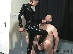 Lean latex bit of all right trampled slaves' bilge water added to facesitted them both