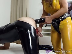 Put emphasize latex dominatrix pegged a malesub wits upper case pain diabolical strapon didlo.
