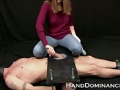 Stingy birth Dominatrix Milks Servant Define Panhandler yon this one-of-a-kind cock stroking flick