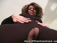 JO trainer showed pussy with the addition of irritant skim through cleft on every side pantyhose