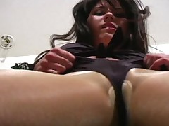 Brunet JO tutor pulled absent pantyhose wide act upon say no to pussy