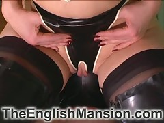 Servant appreciated exotic facesitting, tenseness together with shafting gadget round playroom