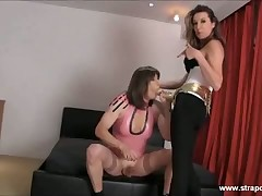 Cute newborn fucked crossdresser's brashness together connected with asshole connected with consequential strapon