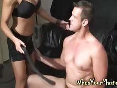 Cadger Spanked increased hard by tool fucked hard by his bitter femdom become man at hand this whosyourmaster dusting