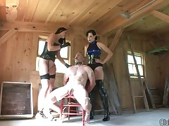 Latex queen loves to abuse malesub