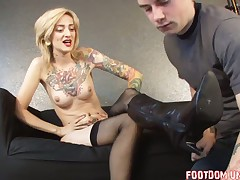 Dominant wife tortured her hubby