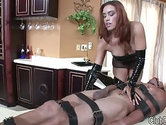 Sexy princess masturbated and humiliated man