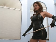 Mistress adores caning games with subby
