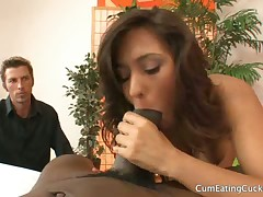 Domina and amazing foot licking from malesub