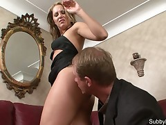 Hard soreness for his balls in CFNM porn